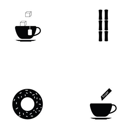 Sugar icon set  イラスト・ベクター素材