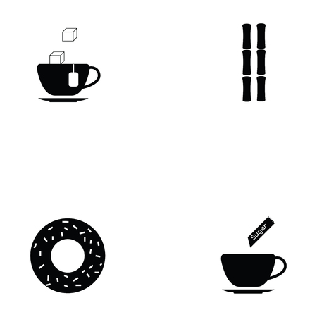 Sugar icon set Illustration