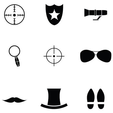spy icon set
