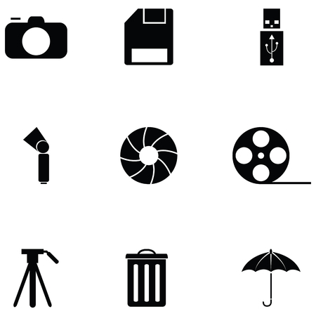 Photographic Equipment icon set
