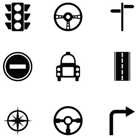 driving school icon set Stock Vector - 94381210