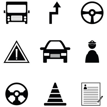Rijschool icon set