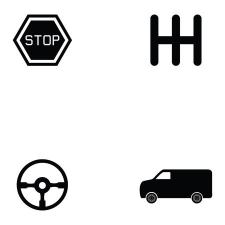 driving school icon set Stock Vector - 94381222