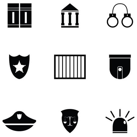 Collection law icon set Illustration