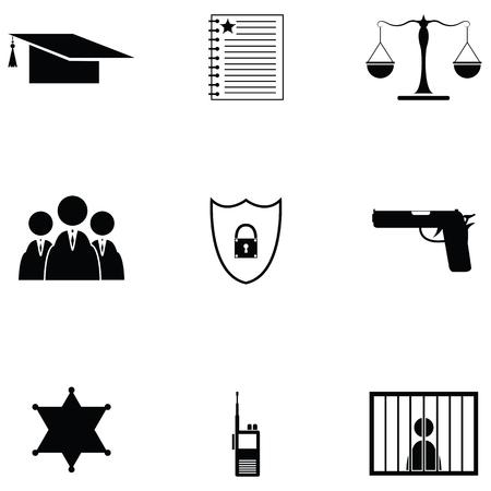 Collection law icon set Illusztráció