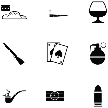 gangster icon set