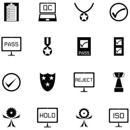 quality control icon set vector illustration.