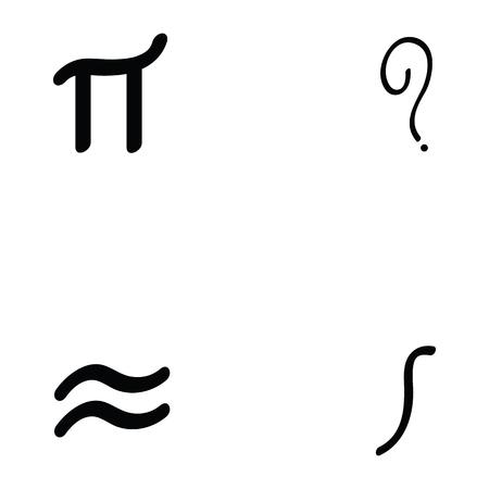math icon set vector illustration.
