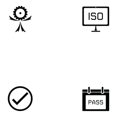 quality control icon set vector illustration.