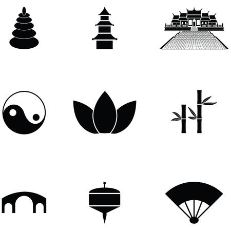 zen icon set vector illustration.