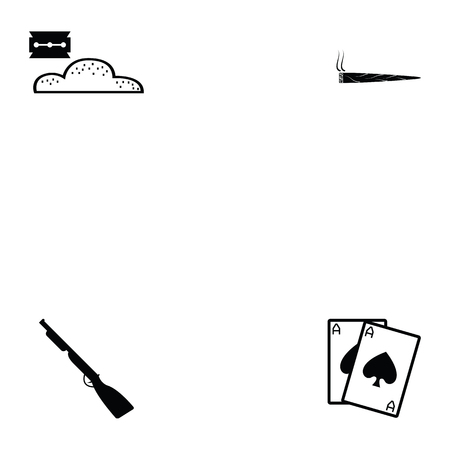 gangster icon set vector illustration.