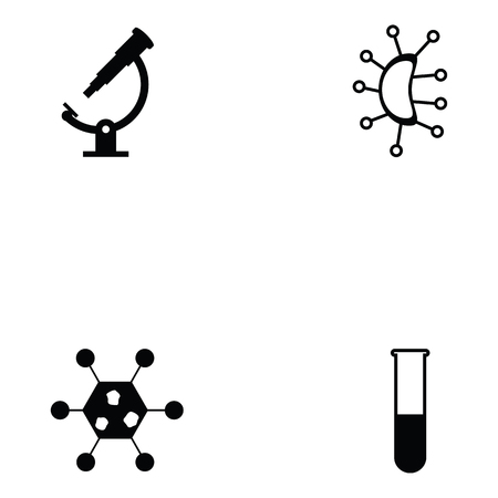Pathogen icon set with test tube Stock Vector - 95662975