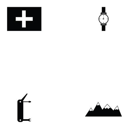 switzerland icon set