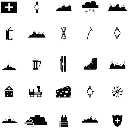 switzerland icon set Vector illustration.