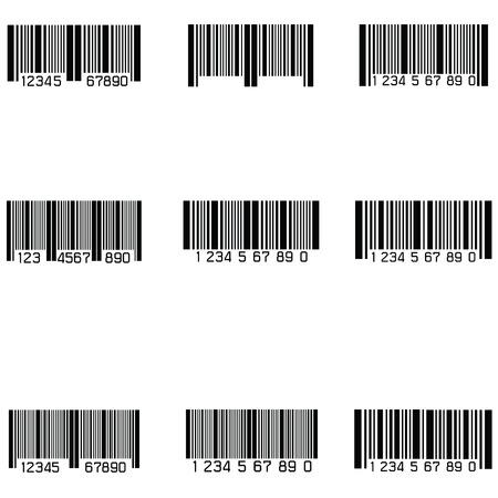 bar code icon set Vector illustration.