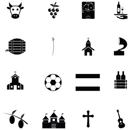 spain icon set Vector illustration.