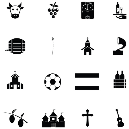 spain icon set Vector illustration.