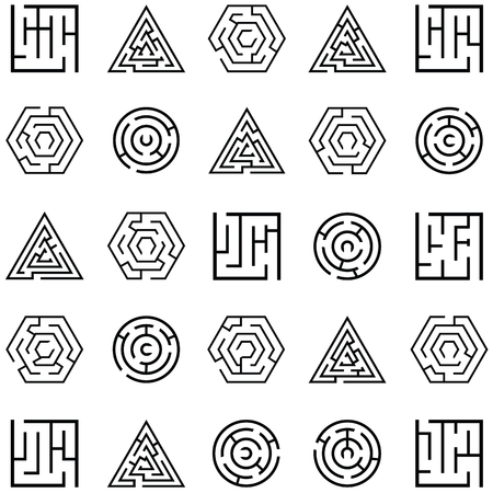 Maze icon set vector illustration