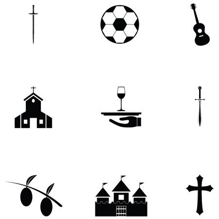 jeu d'icônes d'Espagne