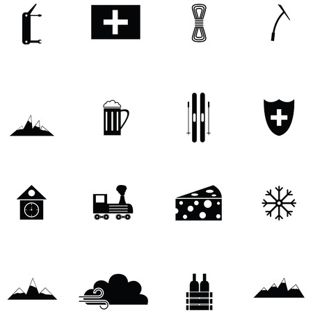 switzerland icon set Vector illustration. Stock Vector - 96732996