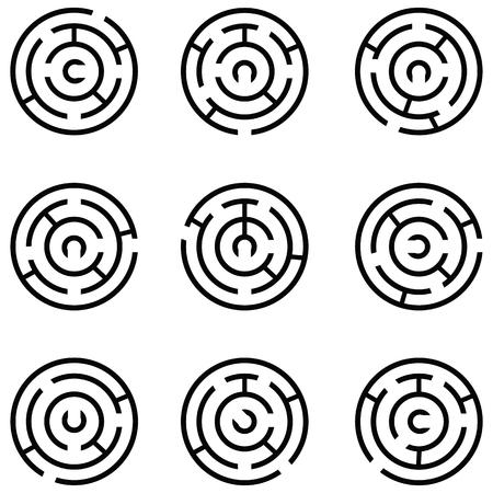 maze icon set Vector illustration.
