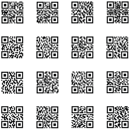qr code icon set
