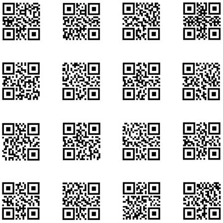 QR-code pictogramserie Stockfoto - 102073754