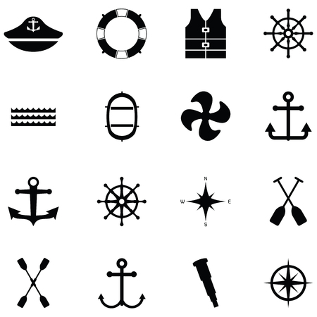 harbor icon set