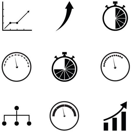 performance icon set