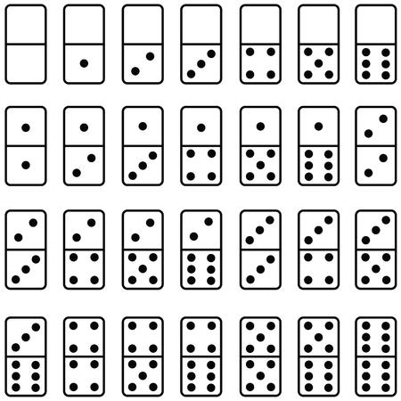 domino icon set Vectores