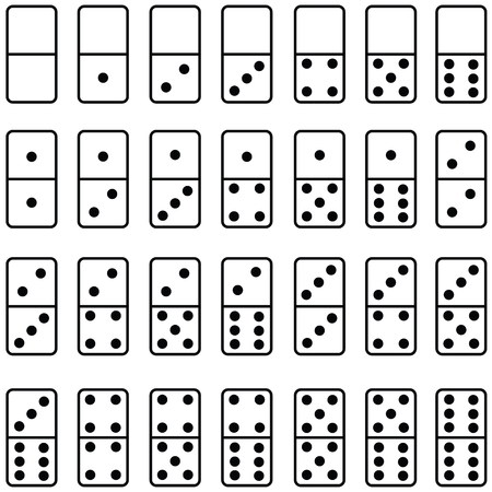 domino icon set Stock Illustratie