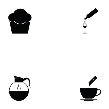 cafe icon set Illustration