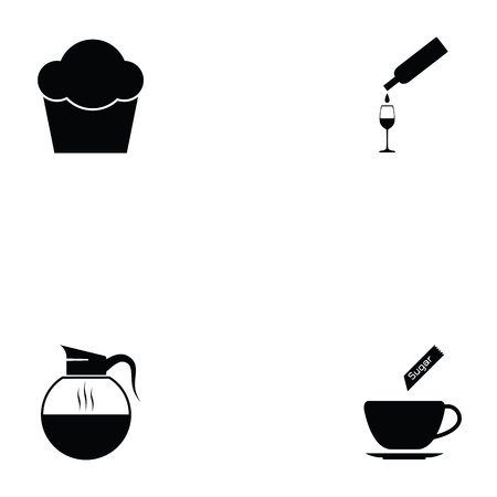cafe icon set Vectores