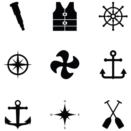 harbor icon set