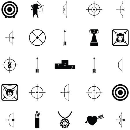 Archery icon set vector illustration