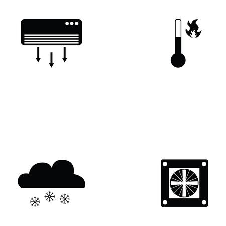 air condition icon set Stock Illustratie