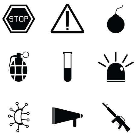 danger icon set Vettoriali