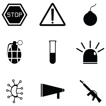 danger icon set Illustration