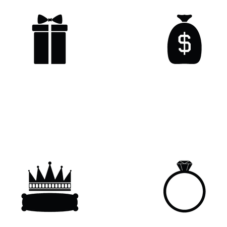 auction icon set Vector illustration.