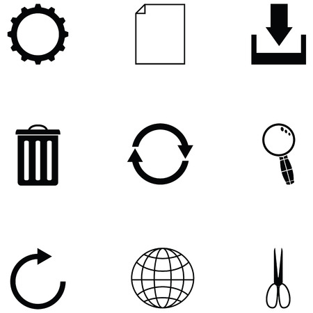 toolbar icon set Vector illustration.