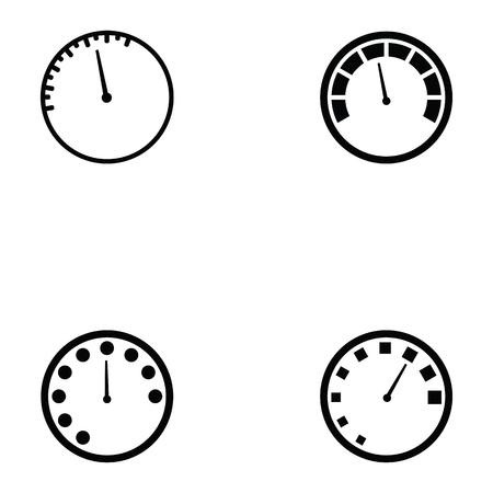 set di icone del tachimetro Vettoriali