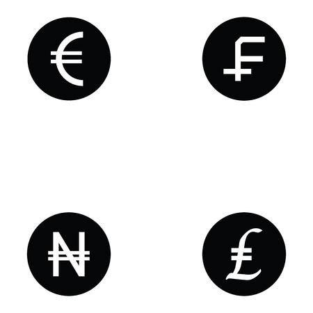 currency icon set Vector illustration. Illustration