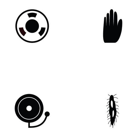 danger icon set Vector illustration.