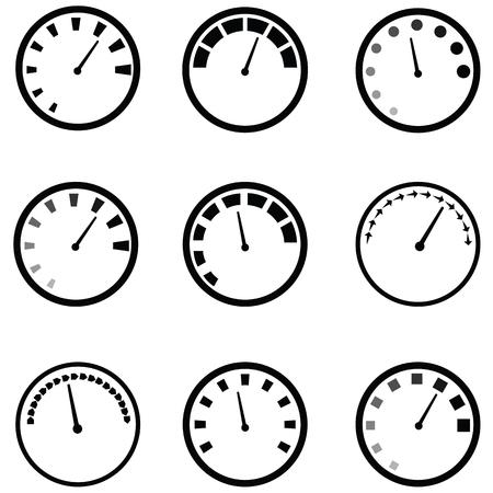 speedometer icon set Vector illustration.