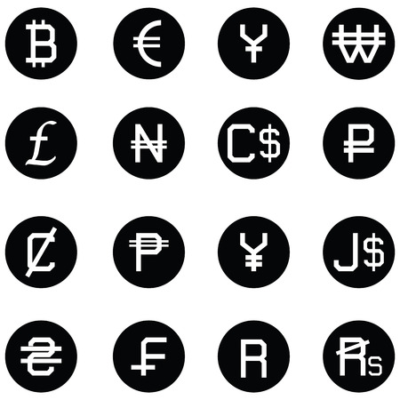 currency icon set