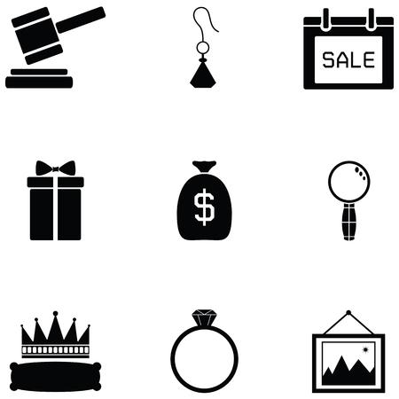 auction icon set