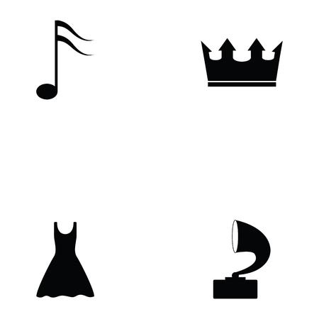 prom icon set Vector illustration. Ilustracja