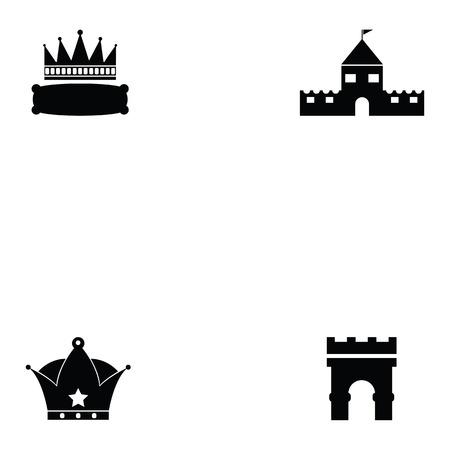 archaeology icon set Vector illustration.