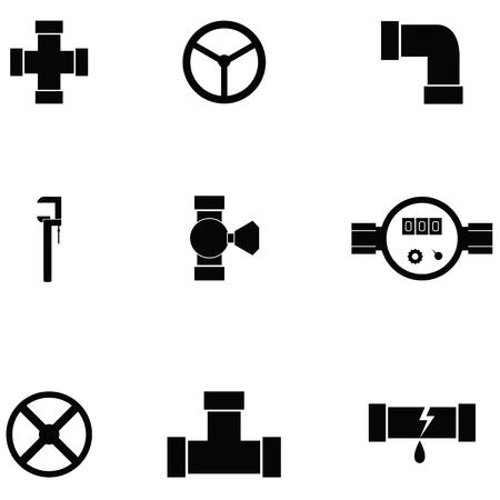 Pipe icon set illustration on white background.