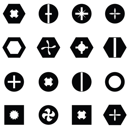 Screw icon set
